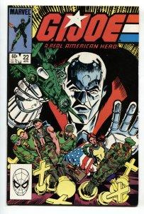 G.I. JOE #22 1984- Marvel Comics comic book-1st DUKE-ROADBLOCK