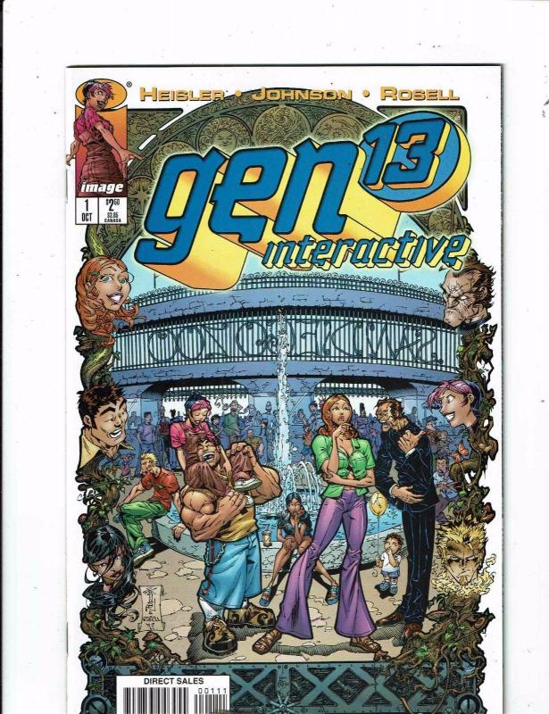 Lot Of 8 Gen 13 Image Comic Books # 1 2 3 Interactive Wired 1 3D 1 + 3 4 5 J241