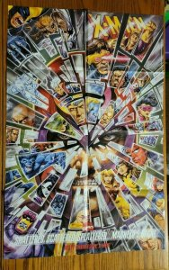 LARGE 34 x 22 X-Men Shattered Magneto Comics Promo Poster NO PIN HOLES NEW