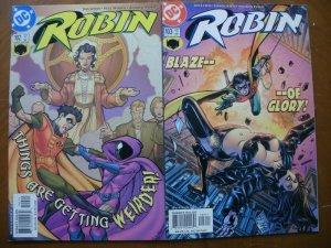 2 Near-Mint DC ROBIN Comic #102 103 (2002) Blaze of Glory Boy Wonder Gotham
