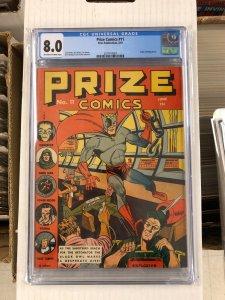 Prize Comics #11 CGC 8.0 VF golden age PRIZE PUBLICATIONS bulldog denny 1941