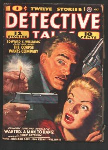 Detective Tales 10/1941-Terrified woman cover-Hardboiled Mystery-violent crim...