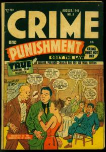 Crime and Punishment #5 1948- Precode Golden Age- Charles Biro VG