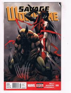 Savage Wolverine #8 FN/VF Marvel Comics Comic Book Wells X-Men Oct 2013 DE45