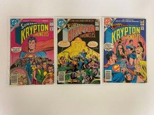 Superman Krypton Chronicles Set #1-3 Newsstand 6.0 FN (1981)