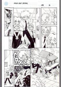 Ninja High School #134 Page 16 Original Comic Book Art- Ben Dunn