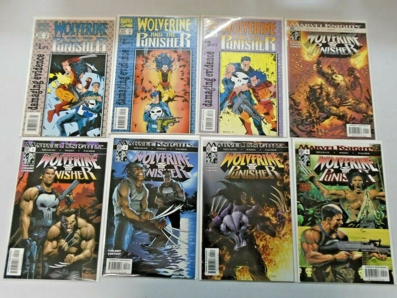Wolverine and the Punisher 2 Sets 8 Different 8.0 VF (1993 + 2004)