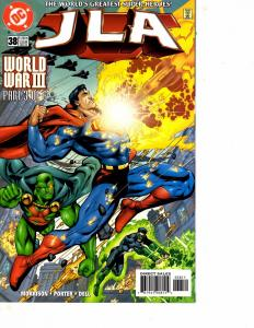 Lot Of 5 JLA DC Comic Books #38 39 40 41 42 Batman Superman DC5