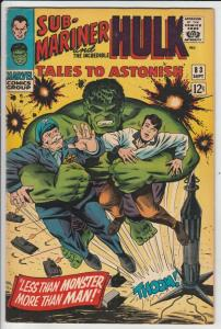Tales to Astonish #83 (Sep-66) VF/NM High-Grade Incredible Hulk, Namor the Su...