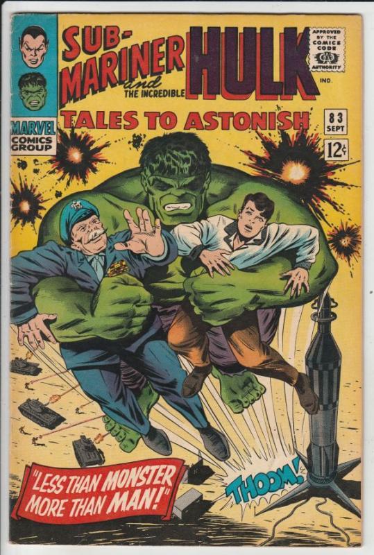 Tales to Astonish #83 (Sep-66) VF/NM High-Grade Incredible Hulk, Namor the Su...