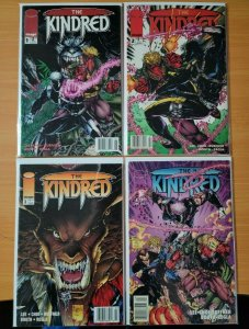 The Kindred 1-4 NEWSSTAND Complete Set Run! ~ VERY FINE VF ~ 1994 Image Comics