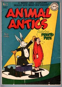 ANIMAL ANTICS #1-1946-FIRST RACCOON KIDS-GOLDEN AGE DC-VG VG