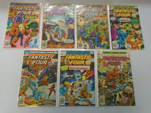 Fantastic Four lot 14 different 30c covers from #174-187 avg 4.0 VG (1976-77)