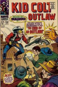 Kid Colt Outlaw #138, VG+ (Stock photo)