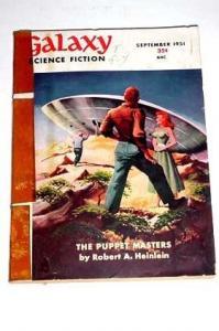 GALAXY SCI-FI-9/1951-THE PUPPET MASTERS-L@@k! VG