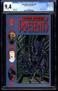 Dark Horse Presents #34 CGC NM 9.4 White Pages Aliens!