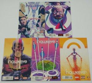 All-New Hawkeye #1-5 VF/NM complete series - marvel comics - kate bishop set lot