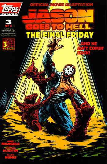 Jason Goes to Hell: The Final Friday #3 VF/NM Topps - save on shipping - details