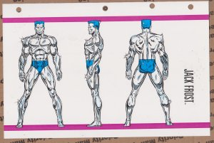 Official Handbook of the Marvel Universe Sheet- Jack Frost