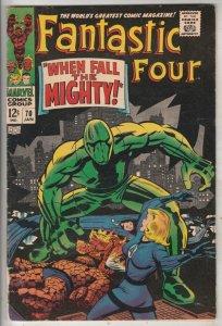 Fantastic Four #70 (Jan-68) FN/VF Mid-High-Grade Fantastic Four, Mr. Fantasti...