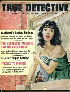 TRUE DETECTIVE-APRIL 1962-BARGAIN-SPICY-MURDER-RAPE-BABY FACE NELSON- FR