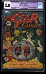 All-Star Comics #8 CGC GD/VG 3.0 (Restored) 1st Wonder Woman!