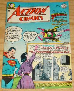 Action Comics #196 VG september 1954 - superman - lois lane - mental-man DC