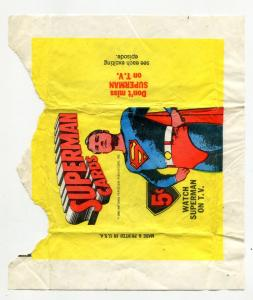 Superman Gum Wrapper 1965- 5 cent - Rare collectors item