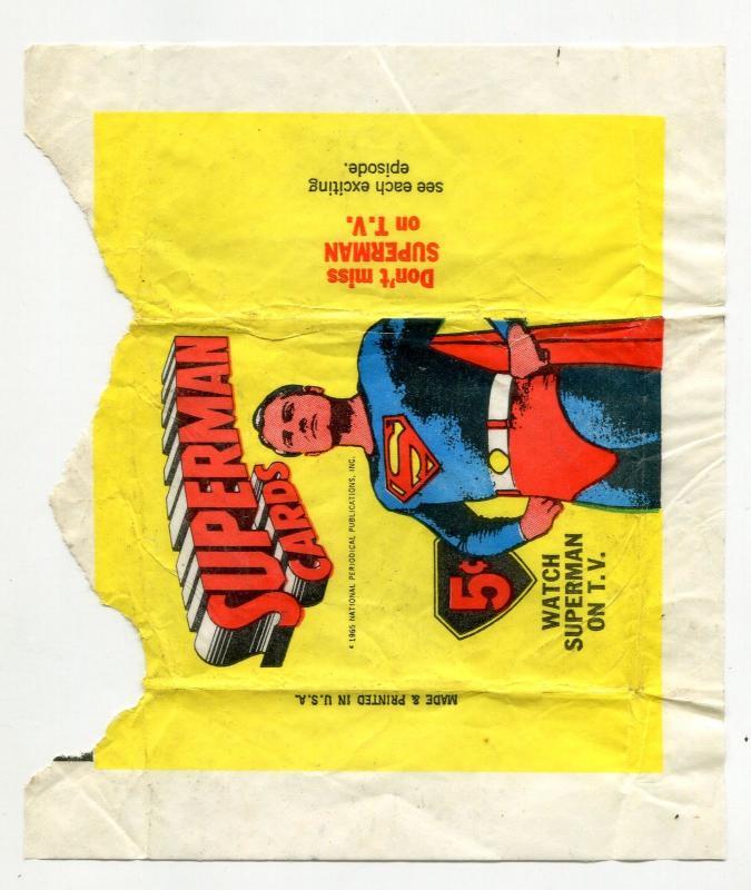 Superman Gum Wrapper 1965- 5 cent - Rare collectors item