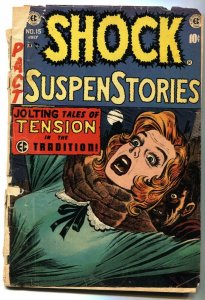 Shock SuspenseStories #15  violent Jack Kamen cover-comic book 1954-EC