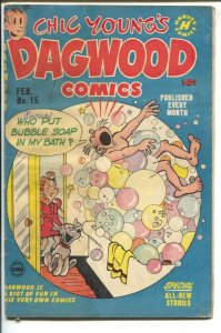 Dagwood #15 1952-Harvey-Chic Young-Blondie-Popeye-Little King-puzzle page-bat...