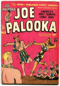 Joe Palooka #10 1947- Spicy Hawaii cover- Bob Powell Flying Foul VG+
