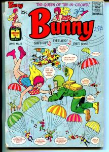 Bunny #15 1970-Harvey-Giant issue-parachute cover-fashions-Afro-Americans-G-