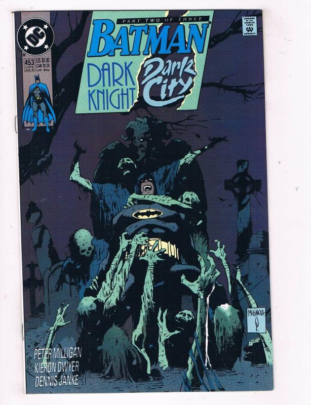 Batman Dark Knight Dark City #453 VF DC Comics Comic Book Aug 1990 DE41 AD18