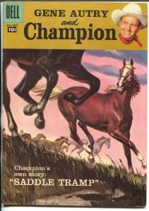 Gene Autry and Champion #115 1957-Dell Savitt cover-title change-VF-