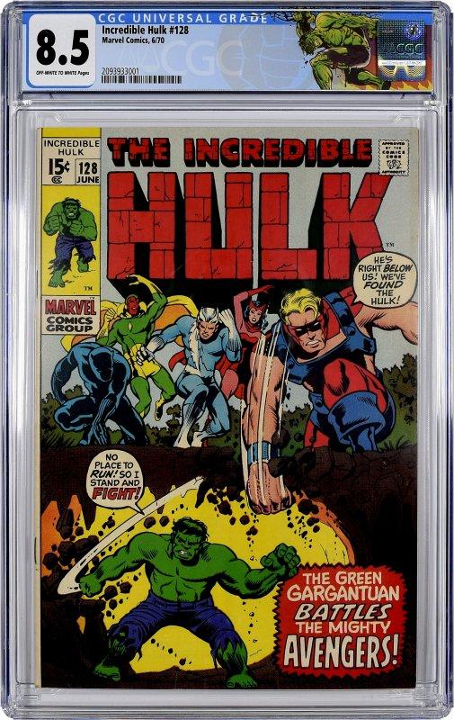 The Incredible Hulk #128 (1970) CGC Graded 8.5