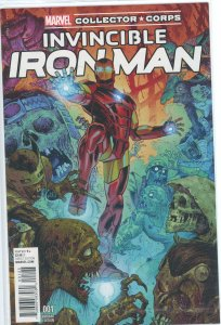Invincible Iron Man 1 Marvel Collector Corps Variant 9.0 (our highest grade)