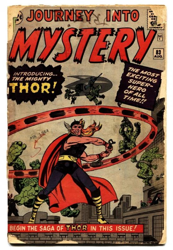 JOURNEY INTO MYSTERY #83 comic book - 1st THOR Jack Kirby 1962