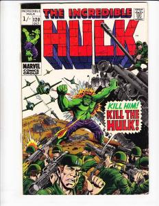 Incredible Hulk #120 VG weird price variant (see huge scan) - inhumans 1969