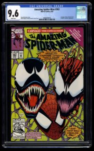 Amazing Spider-Man #363 CGC NM+ 9.6 White Pages 3rd Carnage!
