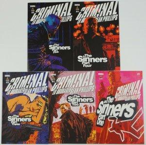Criminal: the Sinners #1-5 VF/NM complete series - ed brubaker - sean phillips