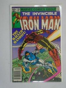 Iron Man #156 Newsstand edition 6.0 FN (1982 1st Series)