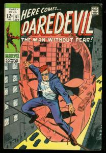 DAREDEVIL #51 1969-MARVEL COMICS-BARRY SMITH VG