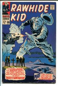 RAWHIDE KID #66 1968-MARVEL-TWO GUN KID-RAWHIDE KID DEATH-vg+