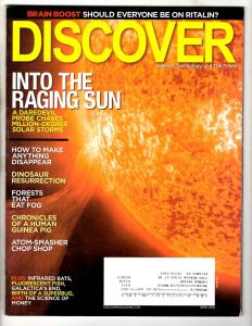 Discover Science Technology & The Future Magazine April 2009 Into The Sun J304