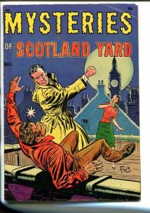 MYSTERIES OF SCOTLAND YARD #1-1954-BOLLE-SOUTHERN STATES PEDIGREE-fn minus