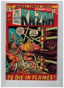 Astonishing Tales Featuring Ka-Zar # 10 FN Marvel Comic Books Bronze Age!!!! SW1