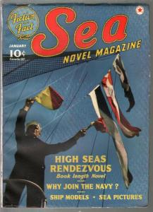 Sea Novel 1/1941-Red Star-US Navy photo cover-J Allan Dunn-VF
