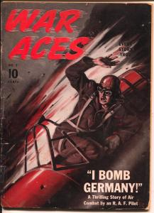 War Aces #2 1941-plane crrash cover-Frank Tinsley-Arch Whitehouse-G/VG