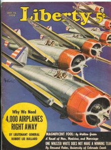 Liberty Magazine October 15 1938- Magnificent Fool- Aviation cover